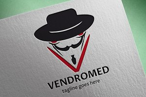 Vendromed (V Letter) Logo