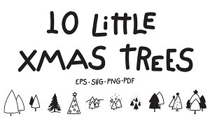 10 Little Xmas Trees