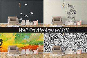 Wall Mockup - Sticker Mockup Vol 101