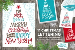 11 Christmas Lettering | 9 Ornaments