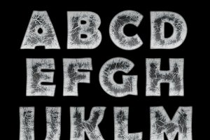 ice in the shape of the alphabet