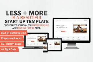 Less + More - Bootstrap 3 Theme