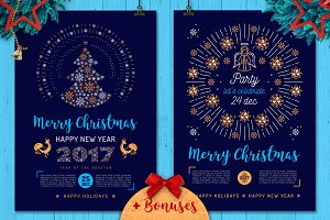 Christmas Party Poster and Cards