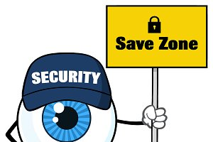 Eyeball Holding Up A Save Zone Sign