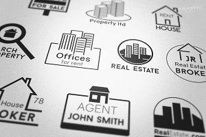 Real Estate Property Badges Logos