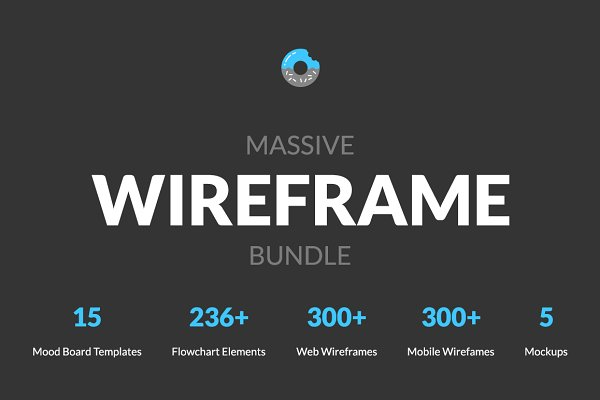 Wireframe Kits: Web Donut - Massive Wireframe Bundle