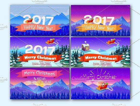 Artistic Christmas Cards Set