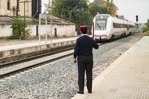 Station boss controlling railway