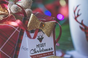 Buffalo Plaid holiday tag