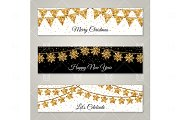 Banners with Gold garlands