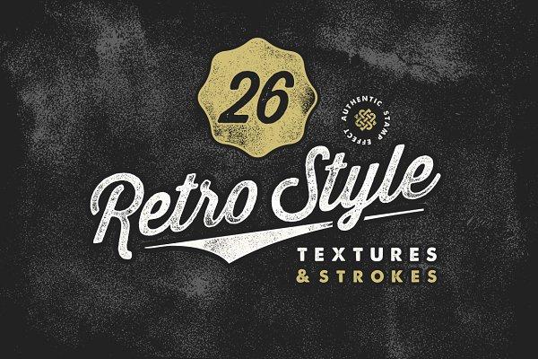 Retro Stamp Textures & Brush Pack