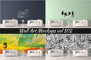 Wall Mockup - Sticker Mockup Vol 102