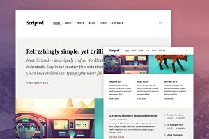 Scripted WordPress Theme