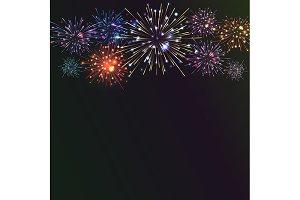 5 Festive colour firework banners.
