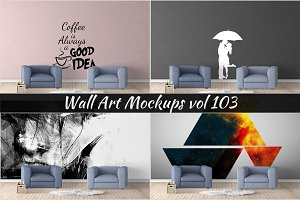Wall Mockup - Sticker Mockup Vol 103