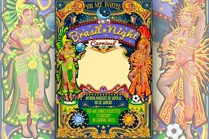 Rio Carnival Poster Theme Brazil