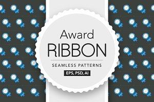 Award Ribbon Seamless Pattern