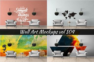 Wall Mockup - Sticker Mockup Vol 104