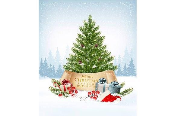 Christmas Tree And Santa Hat