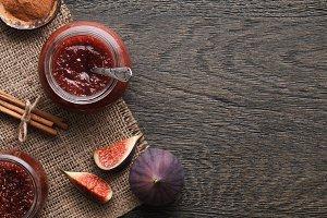 Fig jam background