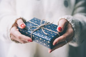 Gift in hands