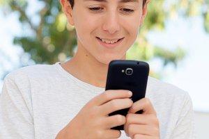 Teenager boy outside