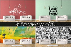 Wall Mockup - Sticker Mockup Vol 105