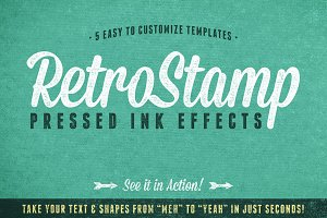 RetroStamp Pressed Ink Effects Vol 1
