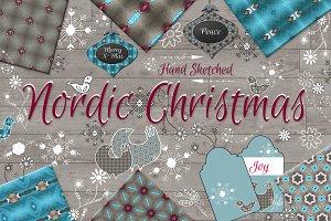 Hand Sketched Nordic Christmas