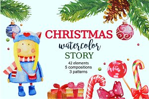 Christmas Watercolor Story