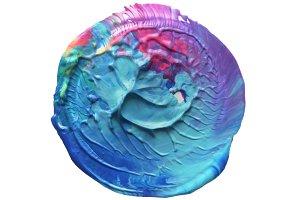 acrylic circle painted background