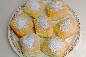 Czech homemade buns