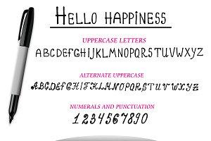 Vector marker Alphabet, numerals