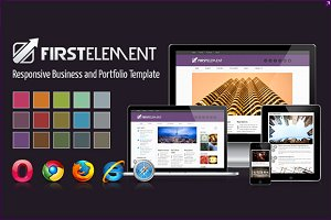 First Element - Responsive Template