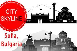 Sofia Bulgaria vector , City Skyline