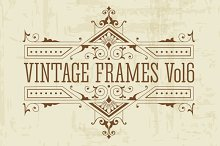 21 Vintage Vector Frames Vol6