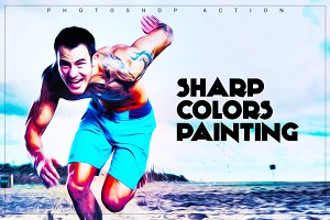 sharp colors Painting