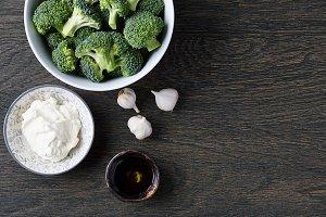 Brocoli soup ingredients