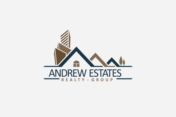 real estate logo v2 logo templates creative market