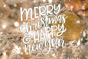 Christmas Overlay - Hand Lettered