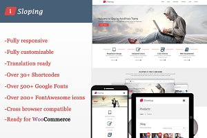 iSloping -Responsive WordPress Theme
