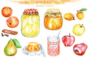 Fruits & Kitchen Clipart