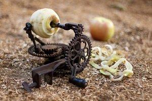 Vintage apple peeler with love