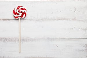 Christmas lollipop close up