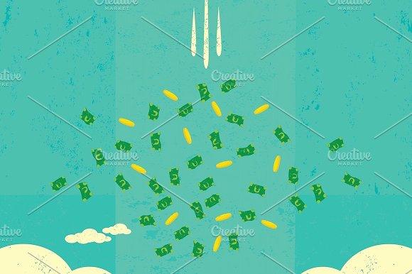 Falling Money Illustrations Creative Market