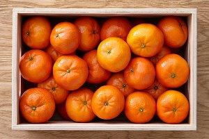 Fresh mandarines box