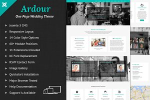 Ardour Wedding One Page Joomla Theme