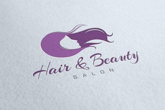 Hair beauty salon logo logo templates creative market altavistaventures Images