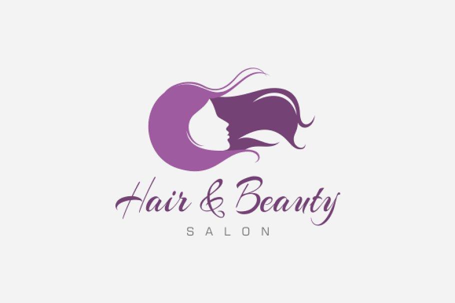 Hair Beauty Salon Logo Creative Illustrator Templates Creative Market