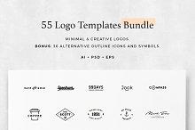 55 Logo Templates Bundle